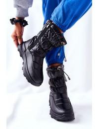 Juodos spalvos šilti žieminiai batai - 21SN26-4353 BLK