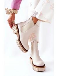 Natūralios odos išskirtiniai prabangūs batai - 05312-04 BEIGE