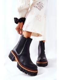 Natūralios odos išskirtiniai prabangūs batai - 05312-01 BLK