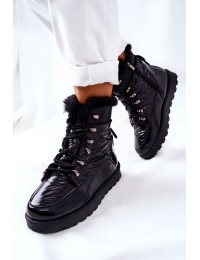 Stilingi šilti ir patogūs batai Black Sneezy - 21-16003BK