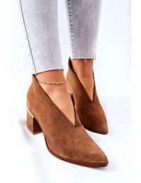 Natūralios odos aukštos kokybės Laura Messi stilingi batai - 2344 504 Brown