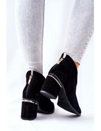 Natūralios odos aukštos kokybės Laura Messi stilingi batai - 2344 500 BLK
