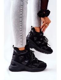 Sportinio stiliaus juodi stilingi batai - 21-12W003 BLK