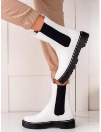 Baltos spalvos stilingi batai su patogia platforma - 201-70W