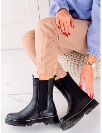 Juodos spalvos stilingi batai su patogia platforma - 201-70B