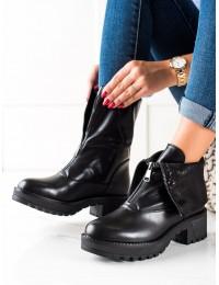 Išskirtinio dizaino juodi stilingi batai - HX22-16271B