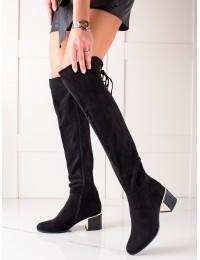 Elegantiški juodi stilingi ilgaauliai - GD-FL3002B