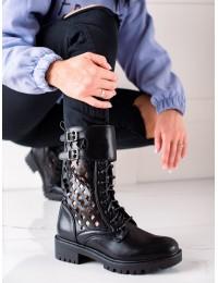Madingi juodi batai ažūriniu aulu - D7756B