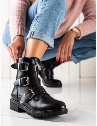 Juodi stilingi batai su sagtelėmis - C655B