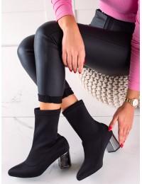 Elegantiški aukštos kokybės juodi batai - 21-57005B
