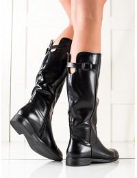Juodos odos stilingi ilgaauliai batai - 8B970B