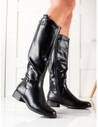 Juodos odos stilingi ilgaauliai batai - 8B969B
