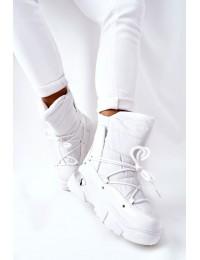 Šilti patogūs balti žieminiai batai - 21-16001WH