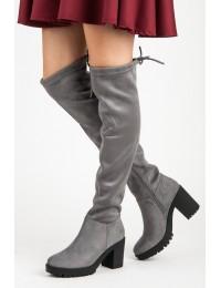 Zomšiniai madingi ilgi batai - 1354-5G