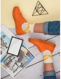 Oranžinės ryškios spalvos espadrilės - K1830201NA