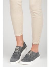 Natūralios odos klasikiniai pilki suvarstomi batai - RAM1216G