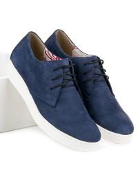Natūralios odos klasikiniai mėlyni suvarstomi batai - RAM1216N