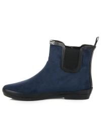 Tamsiai mėlyni zomšiniai guminiai batai