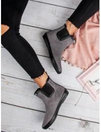 Pilki zomšiniai guminiai batai